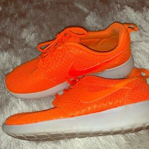 NIKE Neon Orange ROSHE sneakers